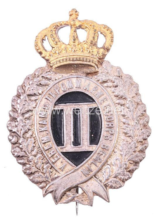 """Preußen - Zivilabzeichen für Angehörige """"Verein ehemaliger Kameraden II. (Pommersches) Armeecorps Berlin"""""""