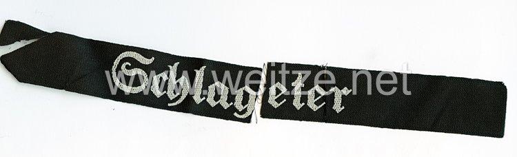 """Sturmabteilung ( SA ) Ärmelband """"Schlageter"""", der SA-Standarte 39, SA-Gruppe Niederrhein"""