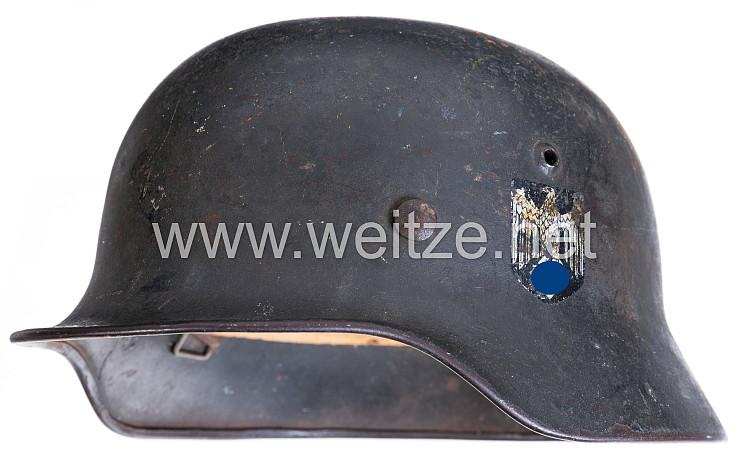 Wehrmacht Stahlhelm M 35 für ausländische Freiwillige mit 2 Helmadlern !