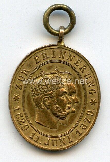 Preussen Jubiläumsmedaille 1879 an die Hochzeit am 11. Juni 1829 des Prinz Wilhelm von Preussen mit Prinzessin Augusta von Sachsen-Weimar-Eisenach