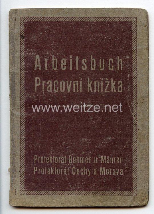 III. Reich - Protektorat Böhmen und Mähren - Arbeitsbuch für einen Mann des Jahrgangs 1930