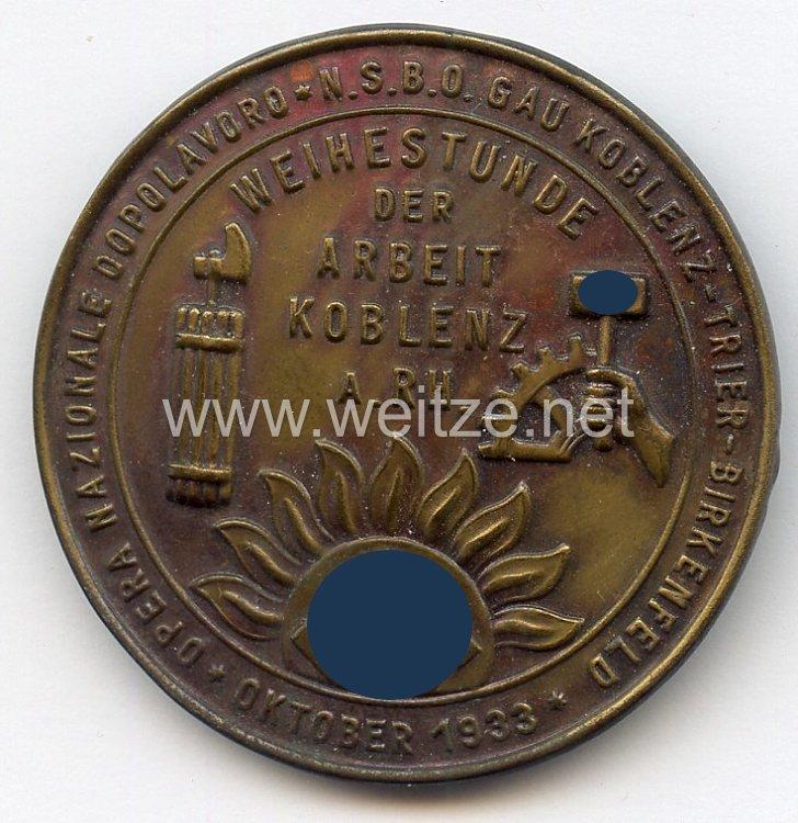 """III. Reich / Italien - Opera Nazionale Dopolavoro - NSBO Gau Koblenz-Trier-Birkenfeld """" Weihestunde der Arbeit Koblenz a.Rh. Oktober 1933 """""""