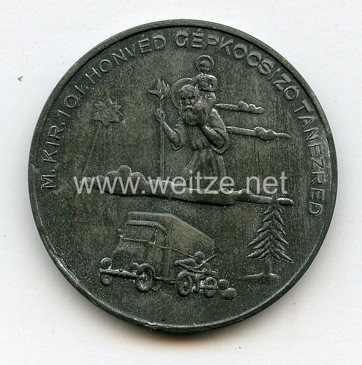 Ungarn 2. Weltkrieg ErinnerungsmedailleWeihnachten 1942 des ungarischen (Honved) Transport-Regiment 101 im Osten