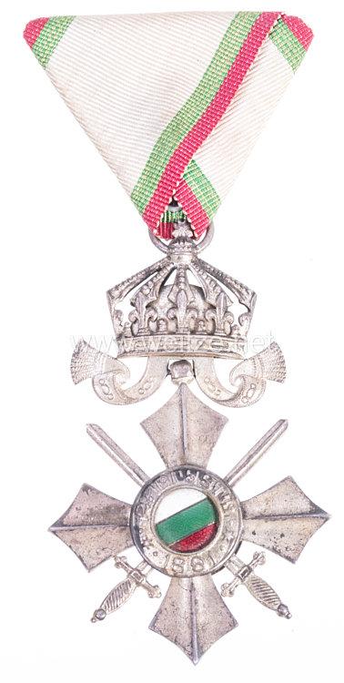 Bulgarien Militär-Verdienstorden Modell (1944-1946) VI. Klasse mit Krone und Schwertern