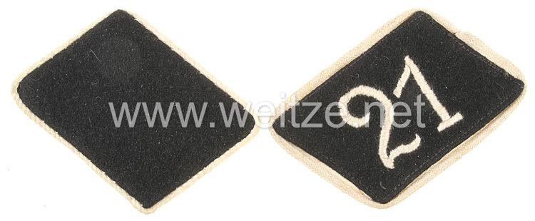 Allgemeine-SS Paar Kragenspiegel für Mannschaften der SS-Standarte 21