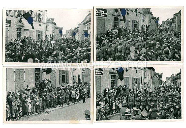 Wehrmacht Heer Fotos, Soldaten marschieren durch Hamburg
