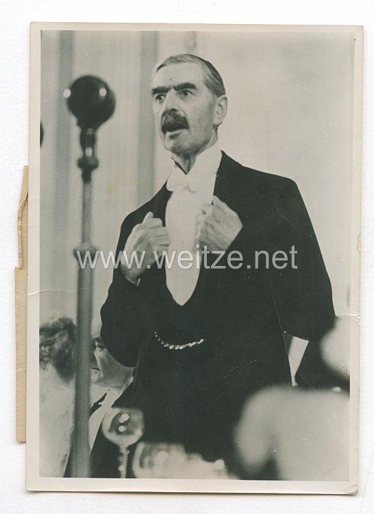 3. Reich Pressefoto: Ministerpräsident Chamberlain hielt eine zwiespältige Rede 14.12.1938