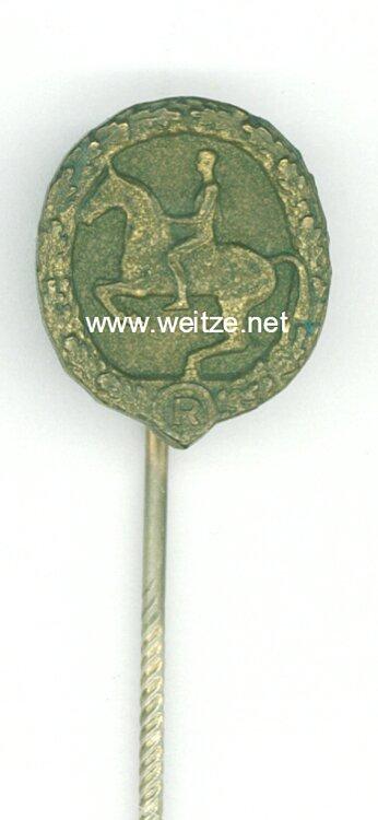 Deutsches Reiterabzeichen in Bronze - Miniatur