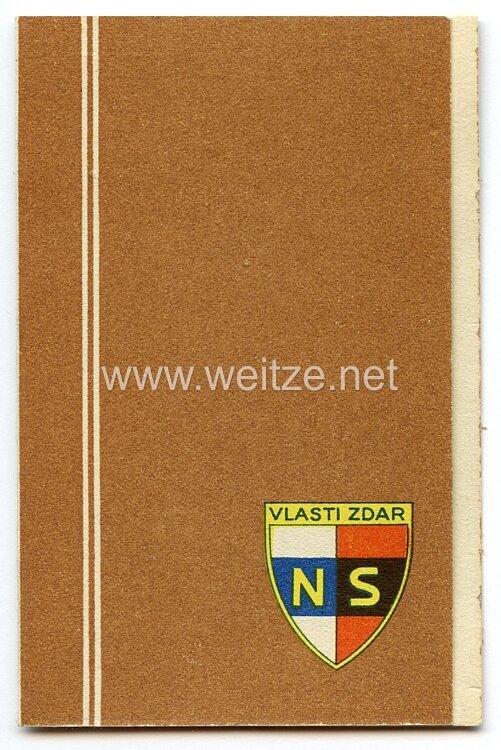 III. Reich - Tschecheslowakei - Narodni Sourucenstvi ( NS ) - Mitgliedsausweis für einen Mann des Jahrgangs 1894
