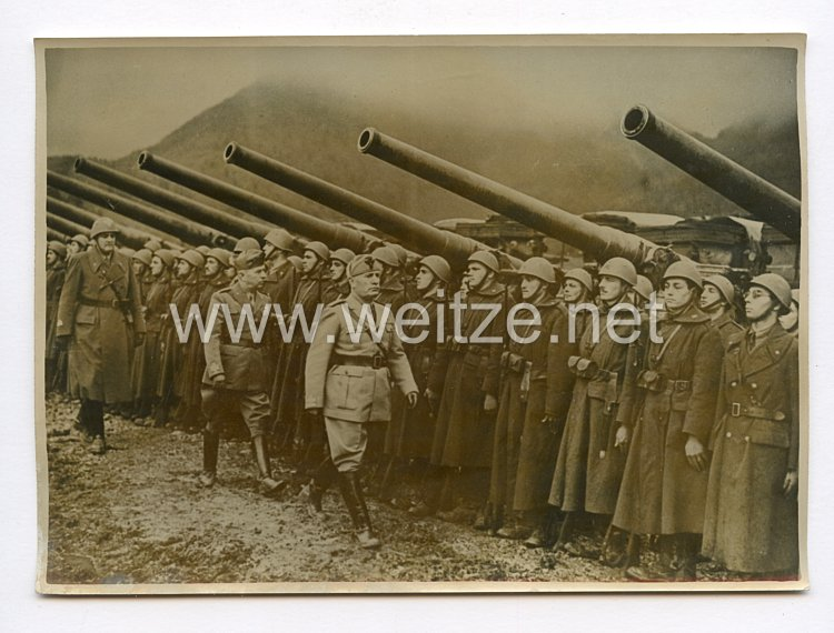 III. Reich Pressefoto. Italiens Elite-Armee steht bereit. 14.10.1940.