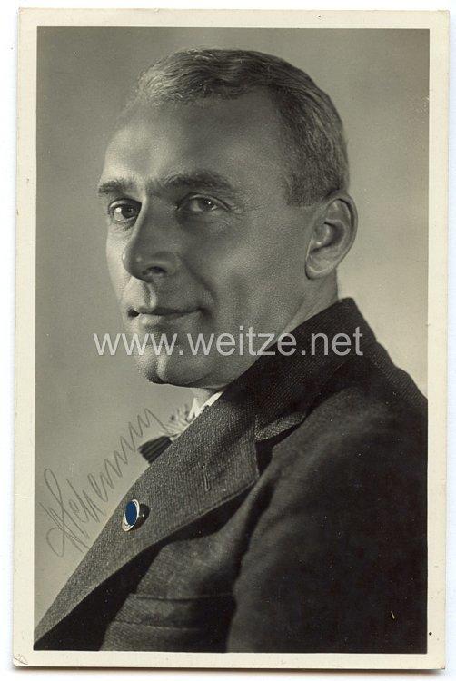 III. Reich - Originalunterschrift von Hans Schemm, Kulturminister und Gauleiter von Oberfranken