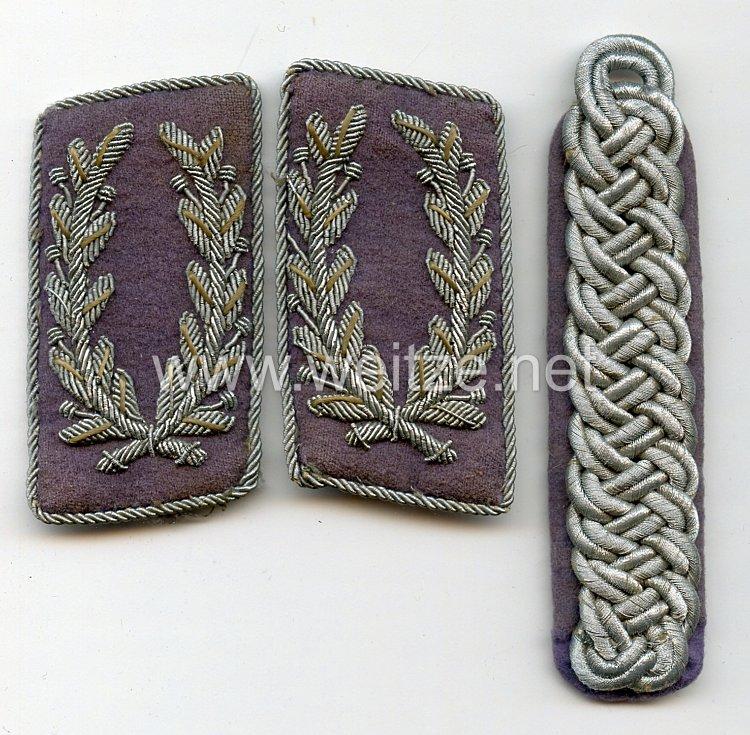 RLB Reichsluftschutzbund Paar Kragenspiegel und Schulterstück für einen Luftschutz-Gruppenführer