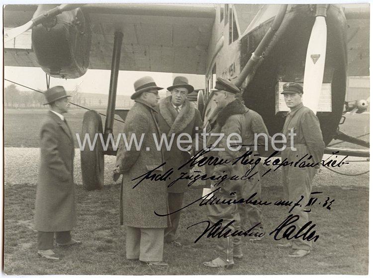 Weimarer Republik - Widmung und Originalunterschrift von Tenor Valentin Haller