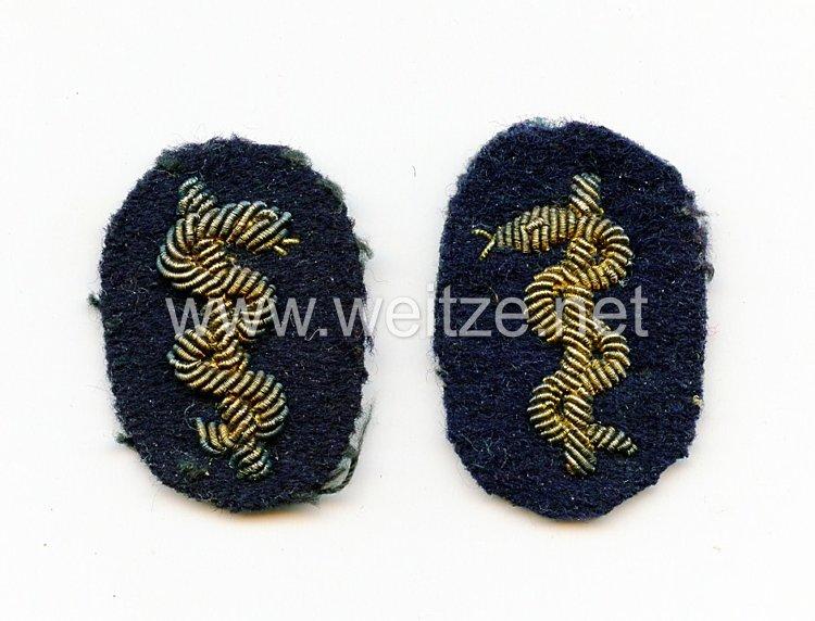 Kriegsmarine Paar Ärmelabzeichen für einen Marinearzt