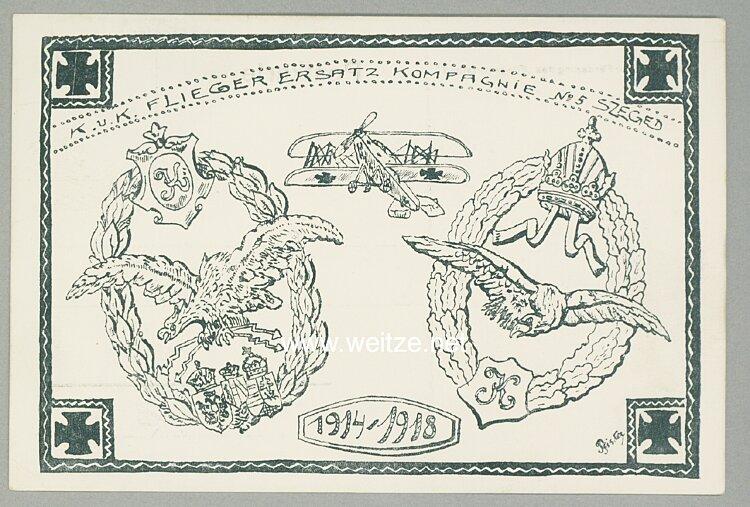 Fliegerei 1. Weltkrieg - Werbepostkarte