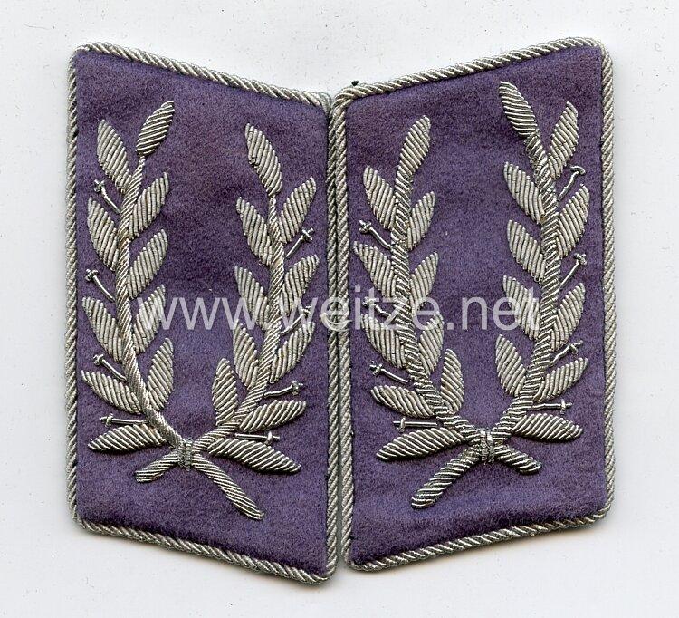 Reichsluftschutzbund RLB Paar Kragenpiegel für einen Stabsluftschutzführer