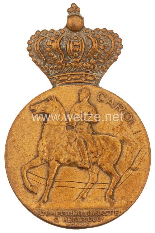 Königreich Rumänien - Centenarmedaille König Carol, 1939