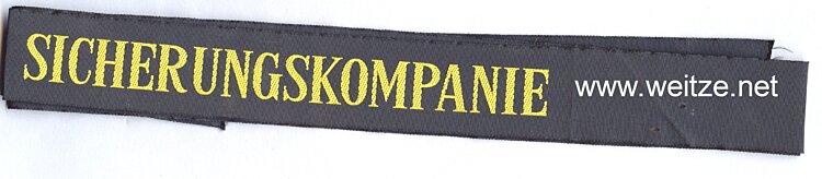 """Bundesrepublik Deutschland ( BRD ) Mützenband """" Sicherungskompanie """", Bundesmarine"""
