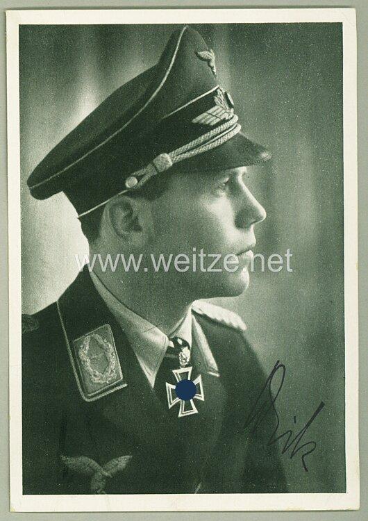 Luftwaffe - Faksimileunterschrift von Ritterkreuzträger Major Helmut Wick