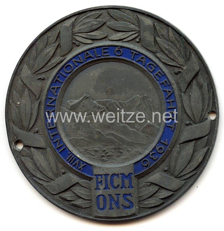 III. Reich - O.N.S. - nichttragbare Teilnehmerplakette -