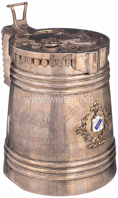 Rußland großer silberner Geschenkkrug des Russischen Infanterie Regiments No. 67 Tarutino - Grossherzog von Oldenburg an das Oldenburgisches Infanterie-Regiment Nr. 91