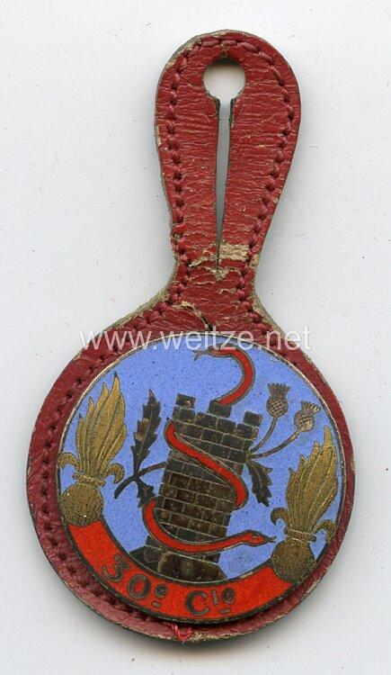 """Frankreich Regimentsabzeichen """"30e Cie"""""""