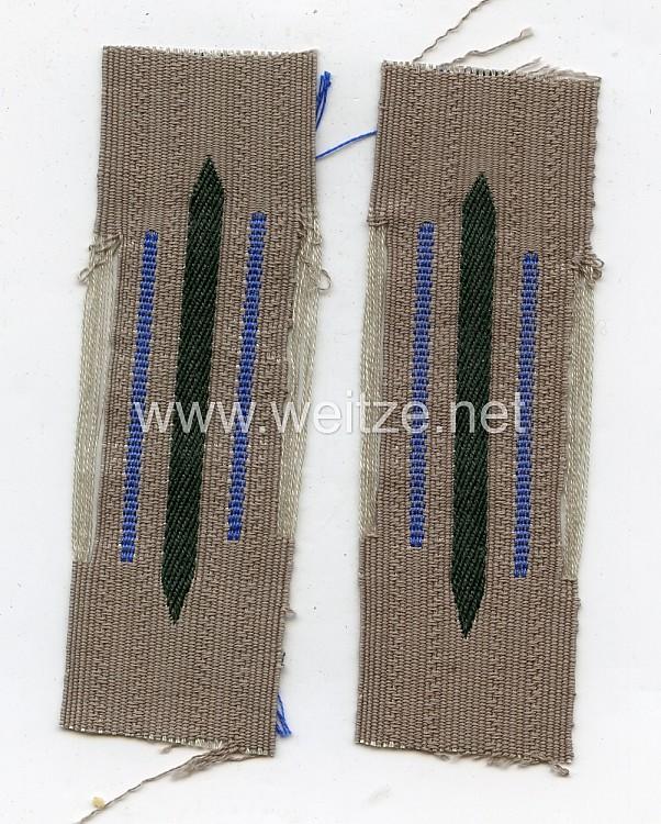 Wehrmacht Heer Paar Kragenspiegel für Mannschaften Transport