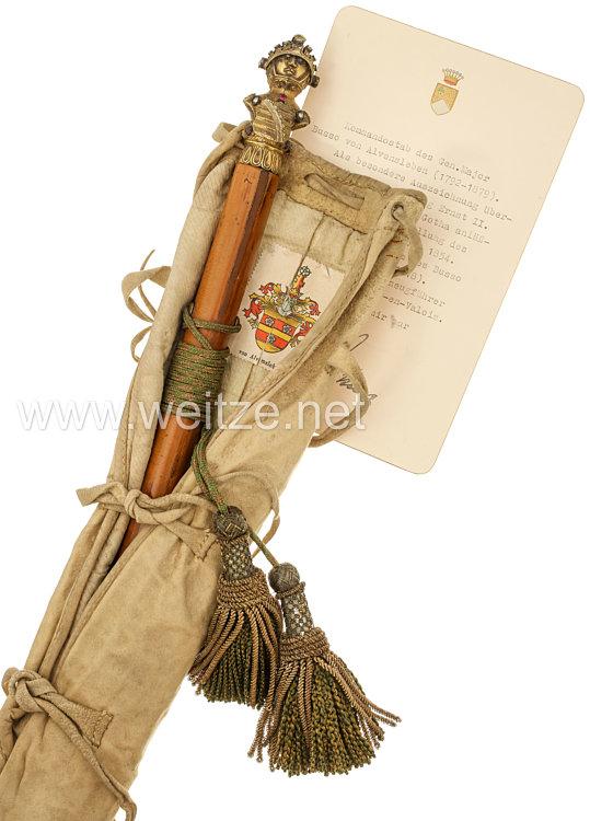 Sachsen-Coburg-Gotha: Kommandostab aus dem Besitz des Generalmajors Busso von Alvensleben (1772 - 1879)
