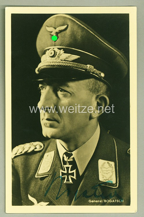 Luftwaffe - Originalunterschrift von Ritterkreuzträger General Rudolf Bogatsch