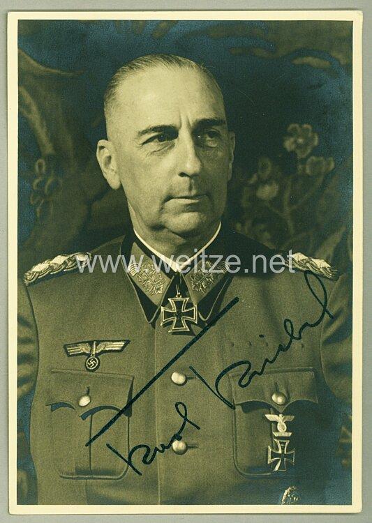 Heer - Faksimileunterschrift von Ritterkreuzträger Generalmajor Karl Kriebel