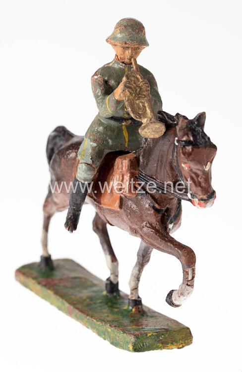 Elastolin - Heer Trompeter auf Schrittpferd
