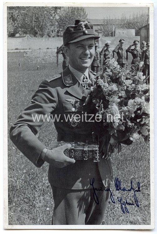 Luftwaffe - Originalunterschrift von Ritterkreuzträger Hauptmann Heinz Maetzel
