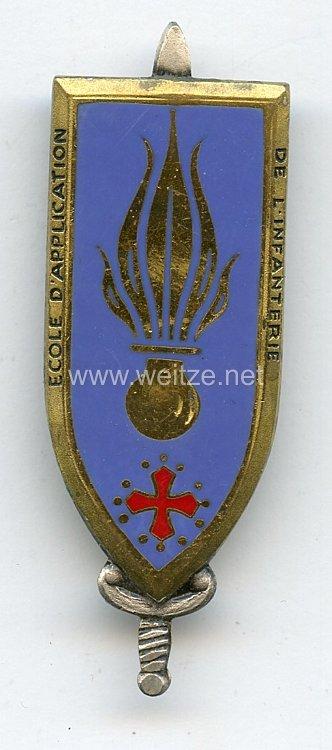 """Frankreich Abzeichen """"ecole d application de l infanterie"""""""