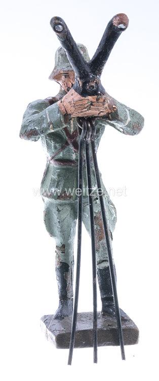Lineol - Heer Offizier am dreibeinigen Scherenfernrohr