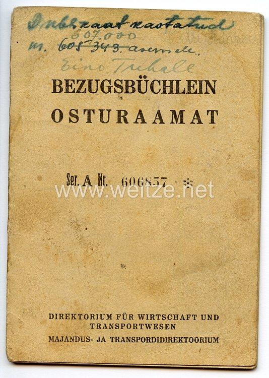 III. Reich / Lettland - Direktorium für Wirtschaft und Transportwesen - Bezugsbüchlein für einen Jungen des Jahrgangs 1925