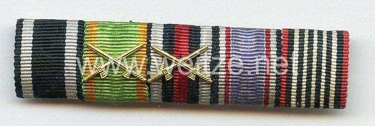 Bandspange eines badischen Veteranen des 1. Weltkriegs und späteren Luftschutz-Angehörigen