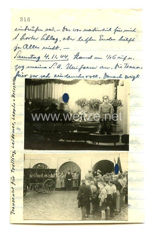 III. Reich Fotos, Trauerakt für gefallene Soldaten 4.11.1944