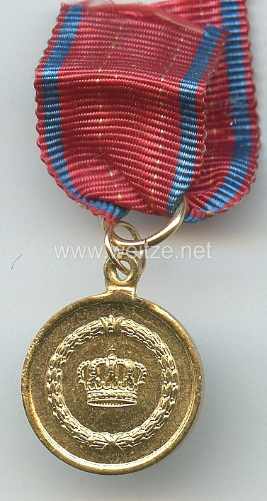 Württemberg Dienstauszeichnung Medaille für XII Dienstjahre, ab 1913 - Miniatur