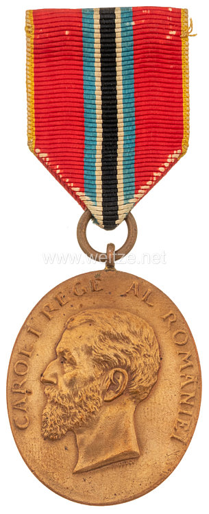 Königreich Rumänien - Jubiläumsmedaille König Carol für Zivilisten, 1906