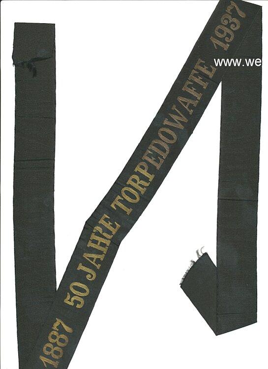 Kriegsmarine Jubiläums-Mützenband