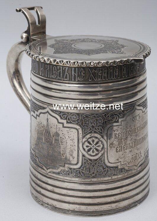 Rußland silberner Geschenkhumpen der Großfürstin Helena Pawlowna 1866