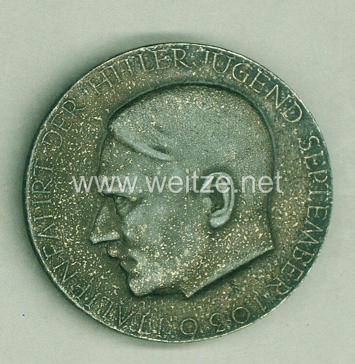 """HJ offizielles tragbares Teilnehmerabzeichen """" Italienfahrt der Hitlerjugend September 1936 """""""