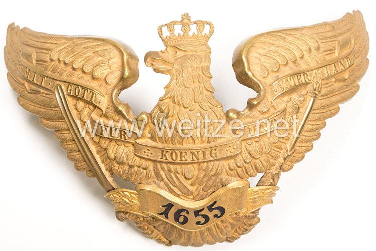 Preußen Helmadler für die Pickelhaube für Offiziere im Grenadier-Regiment Kronprinz (1. Ostpreußisches) Nr. 1