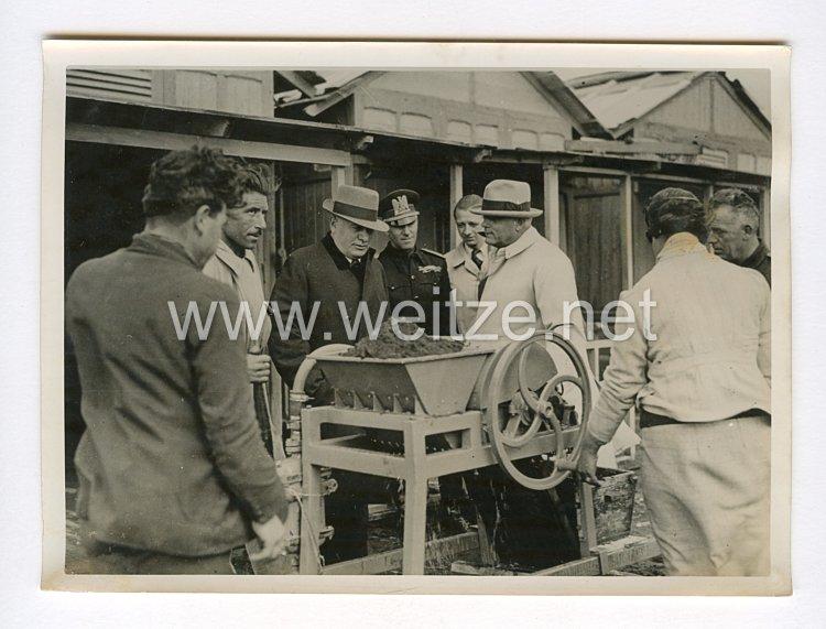 III. Reich Pressefoto. Eisen aus Seesand. 25.4 1940.