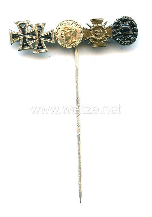 Miniaturspange eines Frontkämpfers im ersten Weltkrieg - 5 Auszeichnungen: