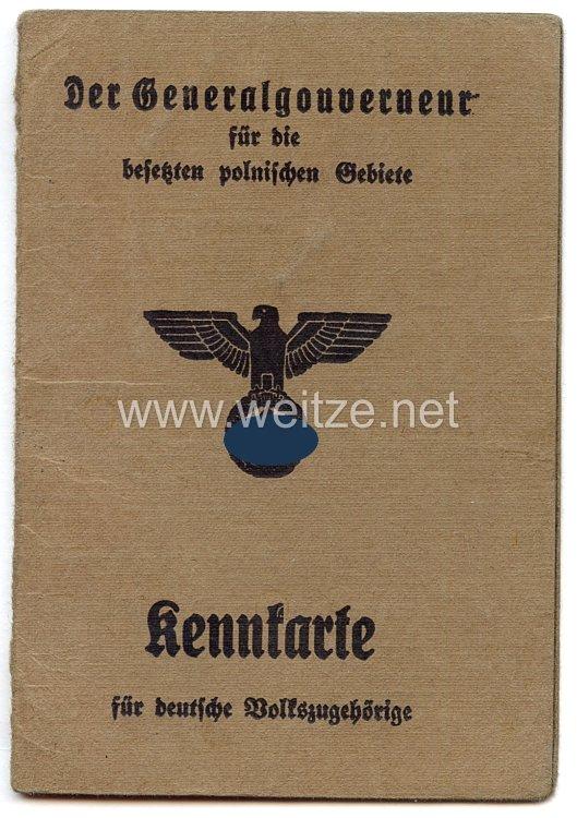 III. Reich - Der Generalgouverneur für die besetzten polnischen Gebiete - Kennkarte für deutsche Volkszugehörigkeit