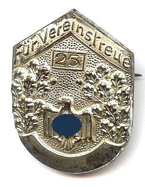 Nationalsozialistischer Reichsbund für Leibesübungen ( NSRL ) - Silberne Ehrennadel für 25 jährige Vereinstreue