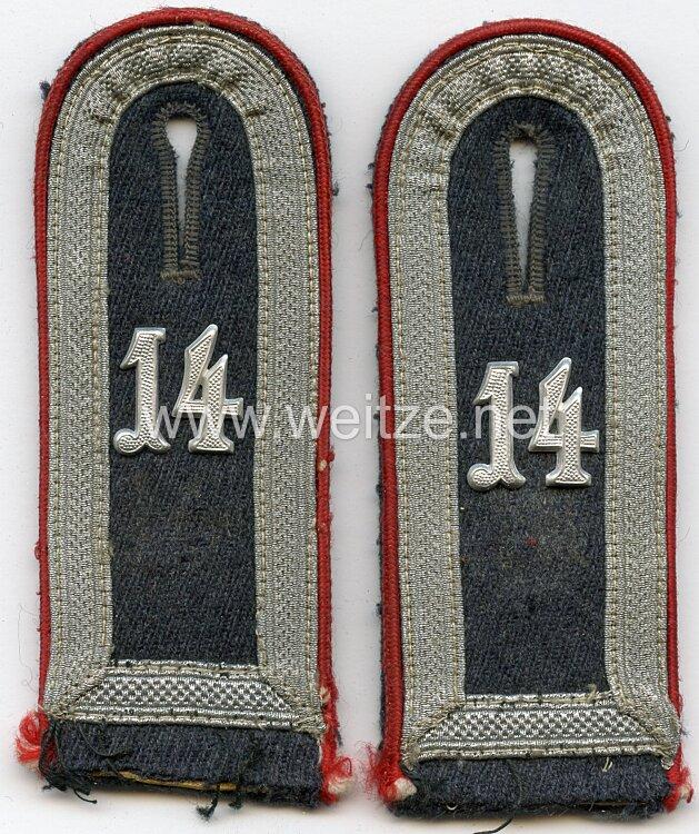 Luftwaffe Paar Schulterklappen für einen Unterfeldwebel des Flakartillerie Regiment 6