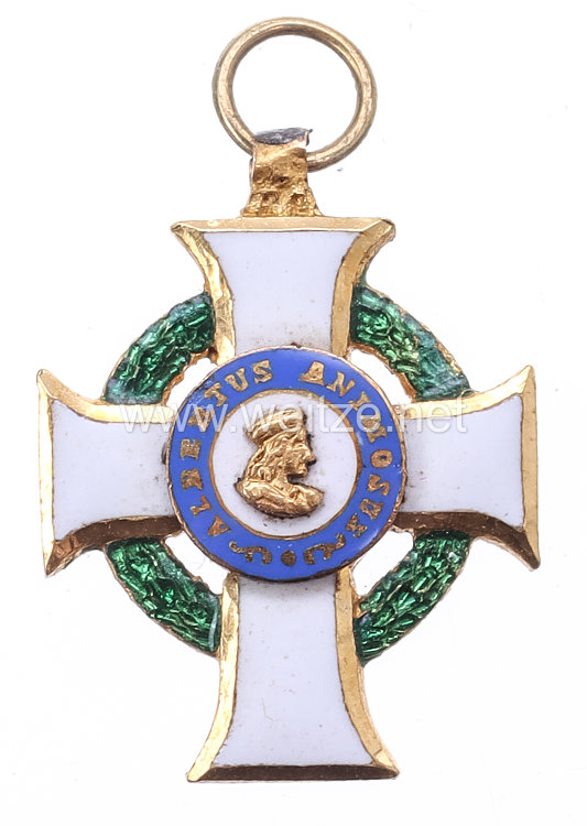 Sachsen Königreich Albrechts-Orden Ritterkreuz 1. Klasse Miniatur