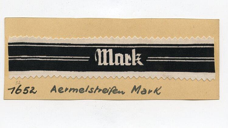 """Ärmelband der Volkssturm-Abteilung """"Mark"""""""
